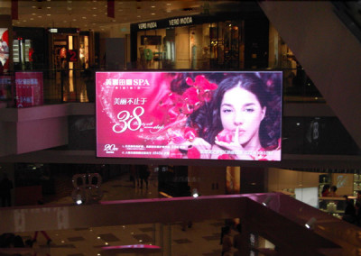 Shopping mall indoor full color SMD LED billboard